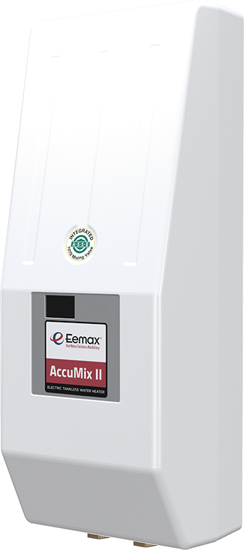 EEMAX AM004120T: 3.5kW 120V, Designed for use in Code-Compliant ASSE 1070-2004 Applications. Bottom 1/2inch compression Fittings, AccuMix electric tankless water heater (REPLACES MB004120T)