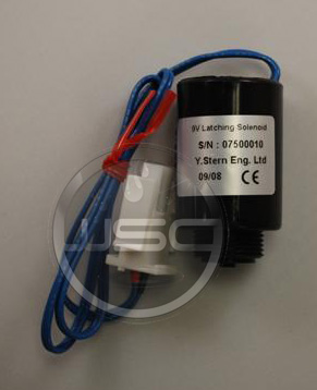 ACORN 2563-326-001: 9 VDC SOLENOID, LATCHING, WITH PLUG CLIP (0750010)