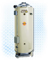 AO SMITH BTR-200A-LP: 100-GALLON, 199,000 BTU, ASME, LP (PROPANE), 6inch VENT WATER HEATER