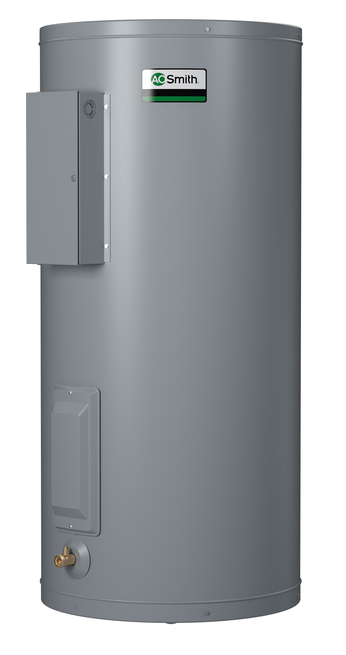AO SMITH DEN-120D: 119 GALLONS, 1.5KW, 120 VOLT, 1 PHASE, (2-1500 WATT ELEMENTS, NON-SIMULTANEOUS WIRING), DURA-POWER, LIGHT DUTY COMMERCIAL ELECTRIC WATER HEATER