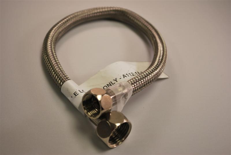 BRADLEY S89-027: 5/15inch I.D. BRAIDED HOSE FROM THE MIXING VALVE TO THE SOLENOID ASSEMBLY (replaces 269-1365)