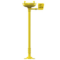 BRADLEY S19-210: PEDESTAL MOUNTED EYE WASH STATION WITH YELLOW PLASTIC BOWL
