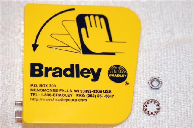 BRADLEY S45-123: HANDLE KIT (128-135 HANDLE + 142-002DA WASHER + 110-215 NUT)