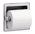 BRADLEY 5102-000000: RECESSED, BRIGHT FINISH STAINLESS STEEL HOUSING SINGLE ROLL TOILET TISSUE HOLDER (NON-RETURNABLE, NON-REFUNDABLE)