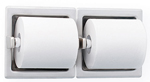 BRADLEY 5124-000000: RECESSED, SATIN STAINLESS STEEL, DOUBLE ROLL TOILET TISSUE HOLDER (NON-RETURNABLE, NON-REFUNDABLE)