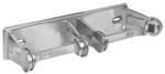 BRADLEY 5224-000000: BX, SURFACE MOUNT, CHROME PLATED STEEL, DOUBLE ROLL TOILET TISSUE HOLDER