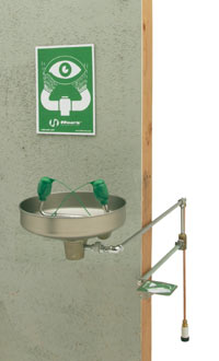 HAWS 7433FP:  EMERGENCY EYE WASH STATION, WALL MOUNTED, WITH STAINESS STEEL BOWL, FREEZE-RESISTANT