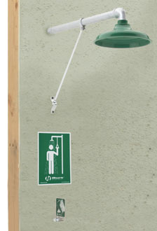 HAWS 8111FP: AXION MSR EMERGENCY DRENCH SHOWER, WALL MOUNTED, FREEZE-PROTECTED