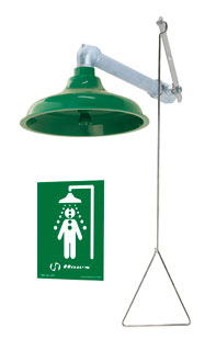 HAWS 8122: AXION MSR EMERGENCY DRENCH SHOWER, HORIZONTAL OR VERTICAL SUPPLY WITH ABS PLASTIC SHOWERHEAD