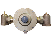 "LEONARD LV-985-SW-LF-BDT-RF: THERMOSTATIC MIXING VALVE, LEAD FREE, 2"" INLET, 2"" OUTLET, 10 - 205 GPM, ROUGH FINISH, WITH CHECKSTOPS, BALL VALVE AND OUTLET DIAL THERMOMETER"