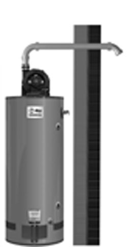 RHEEM GPV75-76FV-2: 75-GALLON, 75,100 BTU, NATURAL GAS, 3inch POWERVENT, SINGLE FLU, LO-NOX COMMERCIAL GAS WATER HEATER
