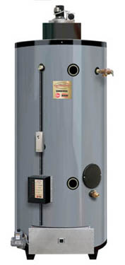 RHEEM GP100-200: 100 GALLON, 199,900 BTU, NATURAL GAS, 3inch VENT, VENTMASTER HEAVY DUTY POWER DIRECT VENT