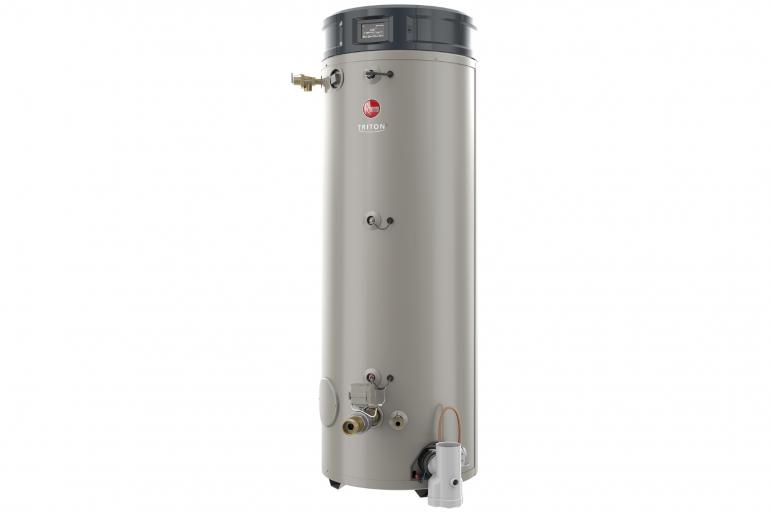 RHEEM GHE100SU-130A-LP: 100 GALLON, 130,000 BTU, LIQUID PROPANE (LP), ASME, FLEXIBLE VENTING, TRITON ULTRA HIGH-EFFICIENCY COMMERCIAL WATER HEATER