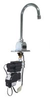 Zurn Z6920-GEN-TMV-1: 1.5 Gpm, Sensor Operated, Hydro Turbine Powered, Single Post, Deck Mount, Gooseneck, With Thermostatic Mixing Valve, Ecovantage Faucet, Lead Compliant