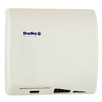 BRADLEY 2902-280000: BX, AERIX HAND DRYER, SURFACE MOUNT, SENSOR-OPERATED (ADJUSTABLE 2inch-8inch), 120-VOLT, 1-PHASE, 9.5-AMPS, 60-HZ, WARM AIR, CAST IRON WHITE PORCELAIN, ADA, WITH INTEGRAL NOZZLE, (10-15 SECOND DRYING TIME)