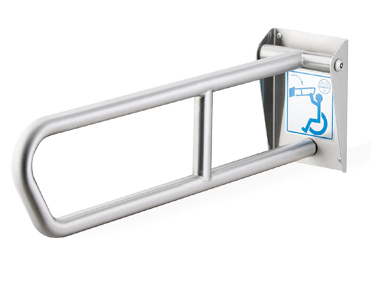 BRADLEY 837-107000: BX, 1-1/4inch X 29inch, SWING-UP, STANDARD FINISH, STAINLESS STEEL GRAB BAR