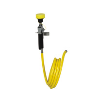 BRADLEY S19-430A: HAND-HELD, SINGLE-HEAD HOSE SPRAY W/8' HOSE & WALL HOLDER
