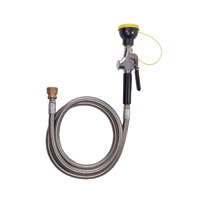 BRADLEY S19-430D: HAND-HELD, SINGLE-HEAD HOSE SPRAY W/6' STAINLESS STEEL HOSE