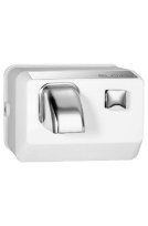 SLOAN 3366010: EHD-301 WHT OPTIMA HAND DRYER-WHITE, PUSH BUTTON, 110/120 VOLT, SURFACE MOUNT, ROTATING NOZZLE