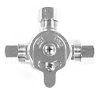 SLOAN 3326009, MIX-60-A: BELOW DECK MECHANICAL MIXING VALVE FOR USE WITH SINGLE FAUCET